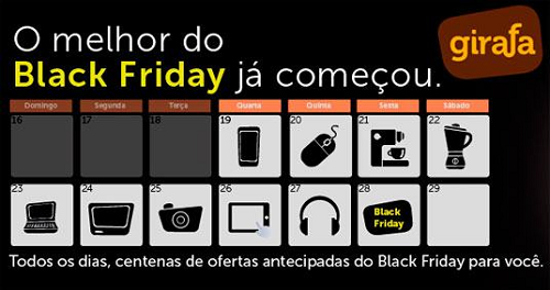black friday girafa