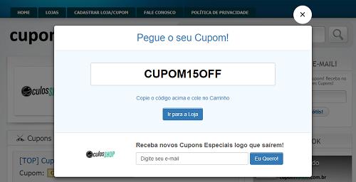 Cupom de Desconto ÓCULOS SHOP → Ganhe 10% até 20% (SÓ HOJE) 4aae047860