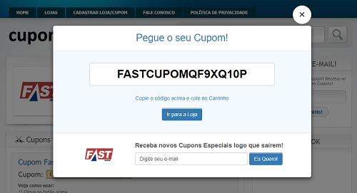 2c2f56315b5d Cupom de Desconto FAST SHOP → Ganhe 10% até 20% (SÓ HOJE)