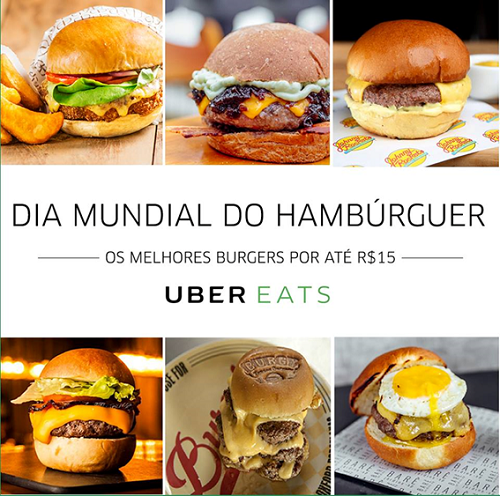 dia do hamburger uber eats