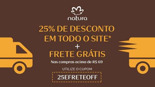 frete gratis natura