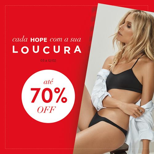 liquidação hope lingerie